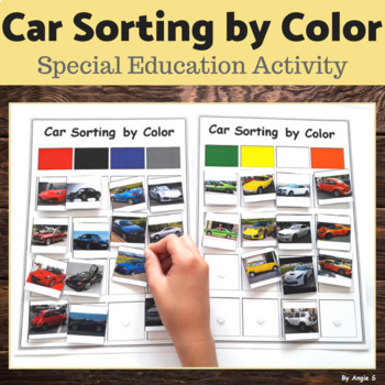 Sorting by Color Cars for Special Education
