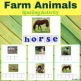 Farm Animals Activity - Spelling Words