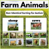 Farm Animals Non Identical Matching Activity for Early Intervention