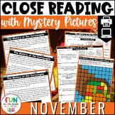 Reading Comprehension Passages November Topics | Digital & Print
