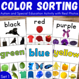 Sorting by Color for Occupational Therapy, ABA Therapy