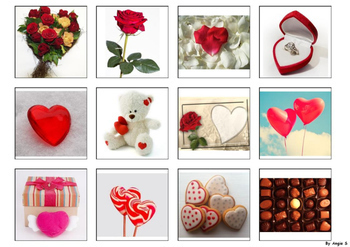 Valentine`s Day Matching Activity