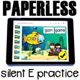 Silent E Activities for Google Classroom