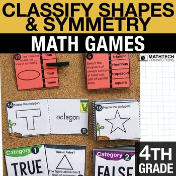 4th - Classify Shapes & Symmetry Math Centers - Math Games