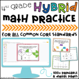4th Grade Google Classroom™ Distance Learning Slides for A