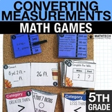 5th - Converting Measurements Math Centers - Math Games