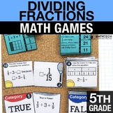 5th - Dividing Fractions Math Centers - Math Games