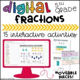 5th Grade Fractions Digital Math Centers