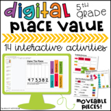 5th Grade Place Value Digital Centers | Distance Learning