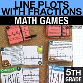 5th - Line Plots with Fractions Math Centers - Math Games