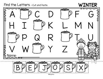 alphabet order cut and paste worksheets using preschool. Black Bedroom Furniture Sets. Home Design Ideas