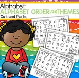 ALPHABET ORDER Cut and Paste Printables Using Preschool Themes