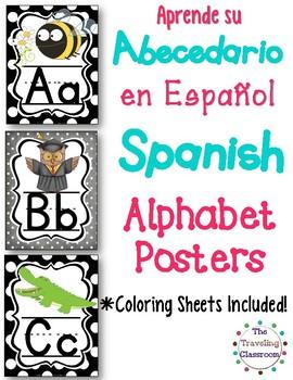 Abecedario en Español - Spanish Alphabet Posters, Bunting