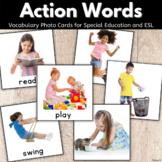 Action Verb Picture Cards for Special Ed, Speech Therapy, ESL