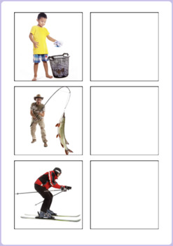 Action Words to Picture Matching Activity