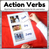 Action Words to Picture Matching Activity for Speech Therapy, ESL, Autism