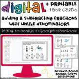 Adding & Subtracting Fractions with Unlike Denominators Google Slides™ 5.NF.1
