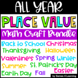 All Year Place Value Activities: Back to School, Fall, Summer Math Craft etc