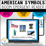 American Symbols Reading Comprehension Boom Cards