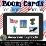 American Symbols Reading Comprehension Boom Cards
