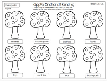 Apple Orchard Q-Tip Painting for Speech/Language