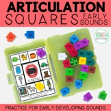 Articulation Squares for Speech Therapy - EARLY Sounds