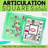 Articulation Squares for Speech Therapy - LATE Sounds