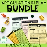 Articulation in Play Handouts BUNDLE for speech therapy