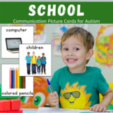 Back to School Vocabulary Cards for Autism