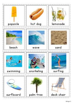 Autism Communication Cards - Summer