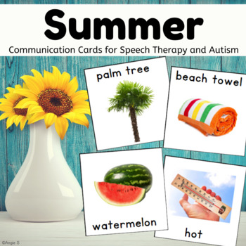 Autism Communication Cards - Summer