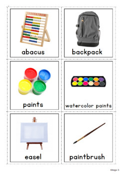 Back to School Flash Cards