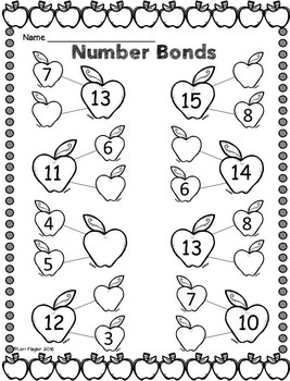 Back to School Addition Strategies Printables