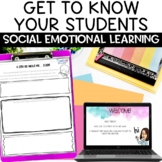 Back to School Getting to Know You Project for Distance Learning