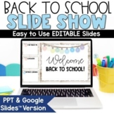 Back to School Night Google Slides Presentation   Distance