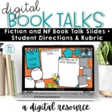 Book Talks | Simple Book Review Templates Digital | End of Year Activity