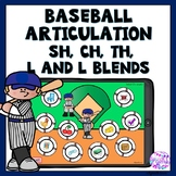 Boom Cards Baseball Articulation Game for Sh, Ch, Th, L an