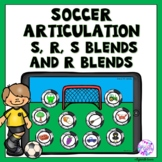 Boom Cards Soccer Articulation Game for S, R, S blends and