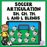 Boom Cards Soccer Articulation Game for Sh, Ch, Th, L and