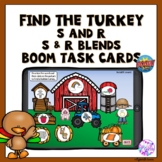 Boom Cards Thanksgiving Turkey Articulation Activity S, R and blends