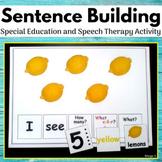 #spedprepsummer3 Sentence Building, Building Sentences Activity