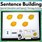 Sentence Building, Building Sentences Activity for Special Education and Speech