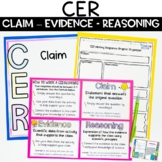 CER Claim Evidence Reasoning Posters and Writing Practice