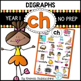Digraphs: CH Worksheets ~ NO PREP Printables