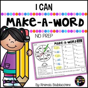 CVC Words Make a Word~ Real and Nonsense Words