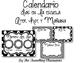 Calendario para su pared! - Editable Spanish Calendar & Birthday Set
