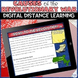 Causes of the American Revolution Distance Learning Activity