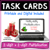 Christmas Digital Task Cards for 2x2 Multiplication