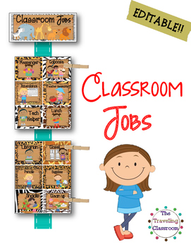 Classroom Jobs {Jungle Zoo Safari}
