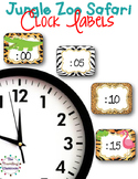 Clock Labels for Telling Time {Jungle Zoo Safari Theme}